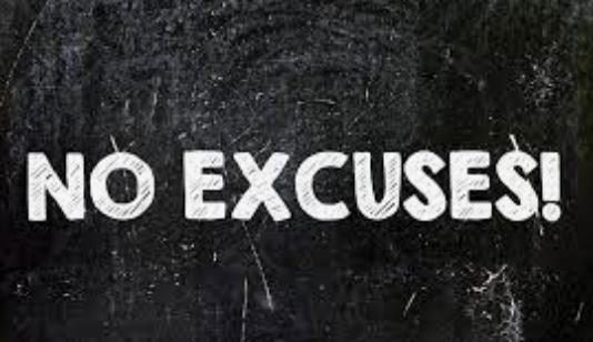 No Excuses in Sales